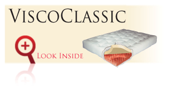 Look inside the Gold Bond ViscoClassic futon sofa sleeper mattress with memory foam