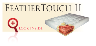 Look inside the Gold Bond FeatherTouch II futon sofa sleeper mattress